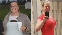 Woman loses 145 pounds thanks to lunch club